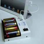乾電池で iPad の起動充電が可能な EP-5V