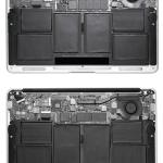 新旧 MacBook Air 11インチモデルのバラし比較