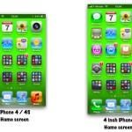 iPhone 5 が 4インチディスプレイを搭載すると…