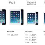 iPad Air と iPad mini Retina 発表