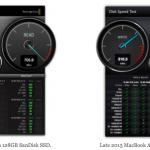 新旧 MAcBook Air のSSDは同性能