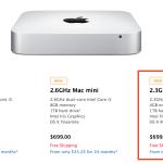 Quad-Core モデルの Mac Mini 再販売?