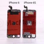iPhone 6s と iPhone 6 のディスプレイ部品を比較