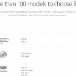 Apple、CarPlay対応車種発表