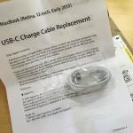 MacBookユーザにUSB-C 充電ケーブル届く