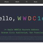 Apple、WWDC16基調講演を公開