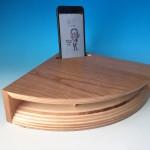 iPhoneを置くだけで音色が変わるウッドホーン、i-Woodhron Collection