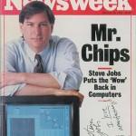 故Steve Jobsのサインが書かれたレアな雑誌がオークションに