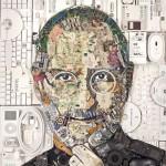 電子機器廃棄物で製作された Steve Jobs のポートレート