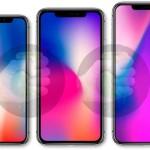 2018年モデルのiPhoneは、6.5と6.1インチスクリーンモデル追加