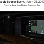 Apple Special Event会場のSteve Jobs Theaterからの中継