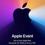 11月10日、Apple イベント「One more thing.」開催